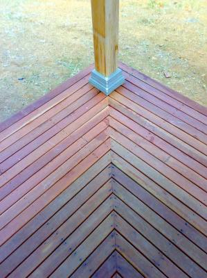 Decking before oiling