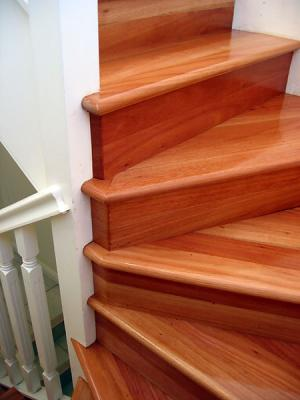 Timber staircase in Drummoyne